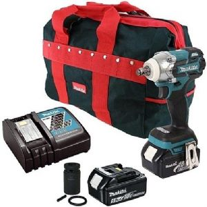 Makita DTW285TX2 LXT Brushless 18V Li-Ion Impact Wrench with Carry Bag (2 x 5 Ah Batteries)